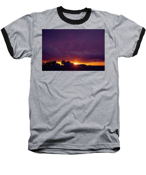 Baseball T-Shirt featuring the photograph Purple Clouds by Toni Hopper