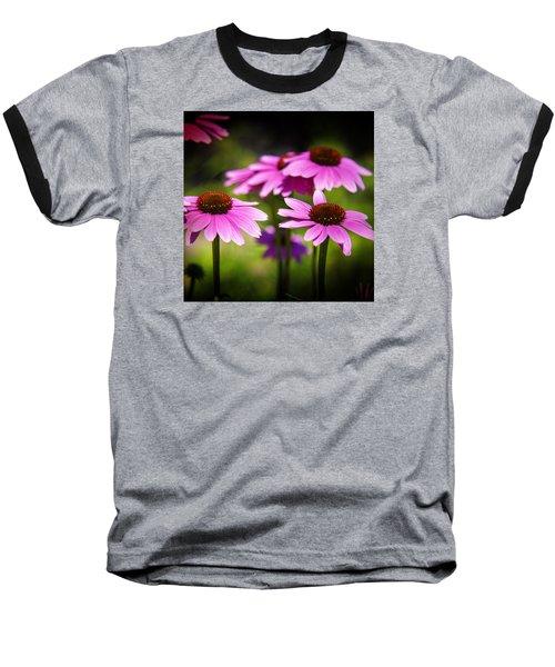 Purple Coneflowers Baseball T-Shirt