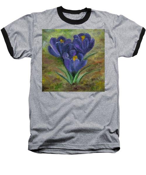 Purple Crocus Baseball T-Shirt