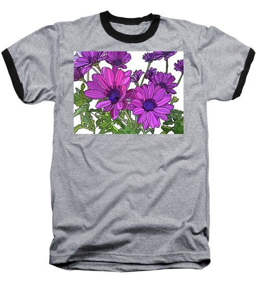 Purple Days Baseball T-Shirt by Jamie Downs