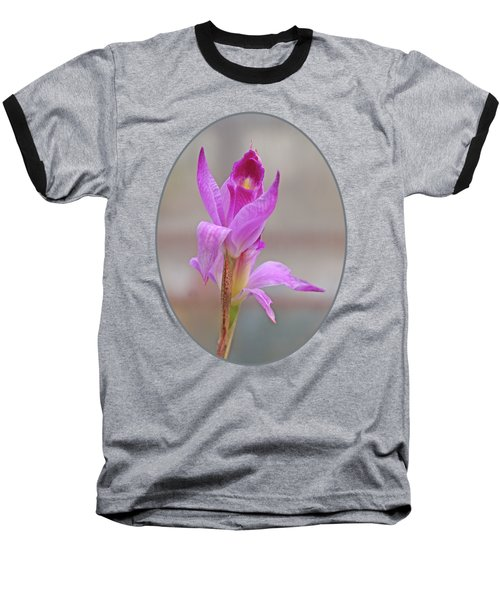 Purple Delight Baseball T-Shirt by Gill Billington