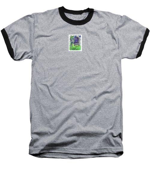 Purple Doorway Baseball T-Shirt