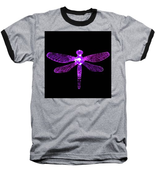 Purple Dragonfly Baseball T-Shirt
