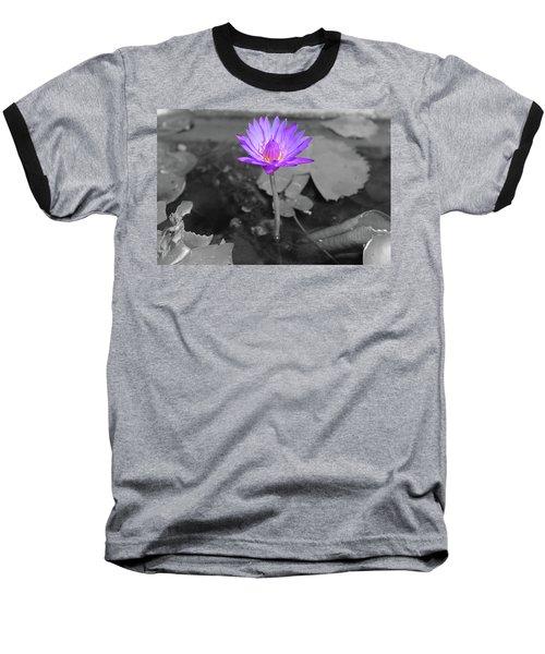 Purple Enlightened Lotus Baseball T-Shirt