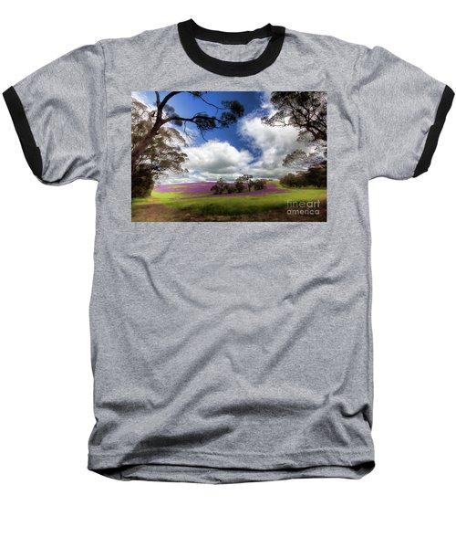 Baseball T-Shirt featuring the photograph Purple Fields by Douglas Barnard