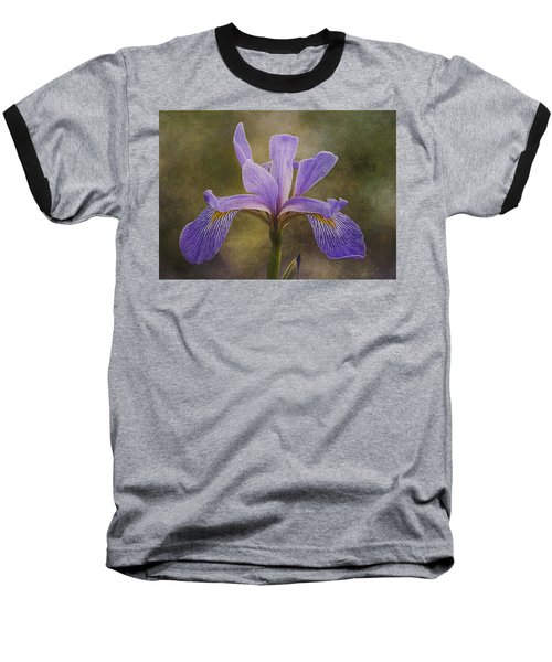 Purple Flag Iris Baseball T-Shirt by Patti Deters
