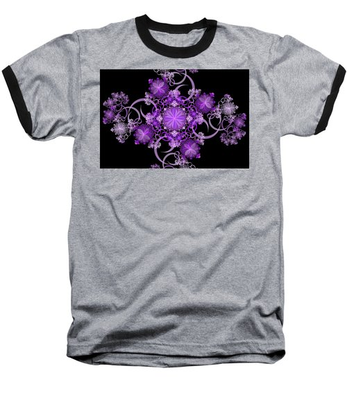 Baseball T-Shirt featuring the photograph Purple Floral Celebration by Sandy Keeton