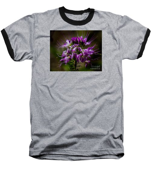 Purple Flower 1 Baseball T-Shirt