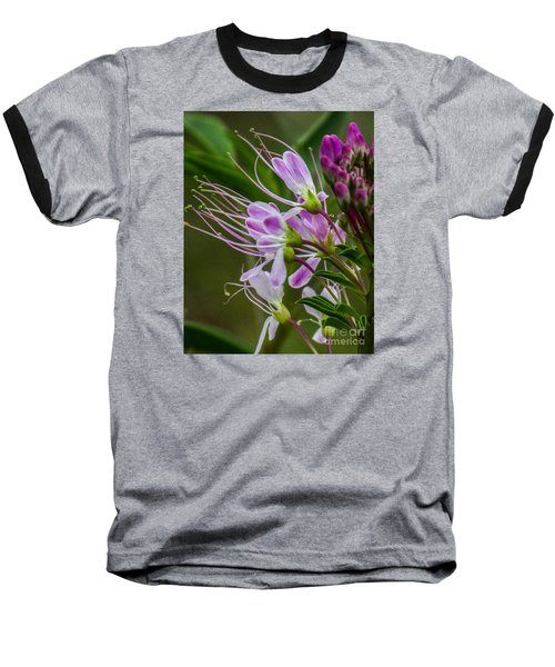 Purple Flower 6 Baseball T-Shirt