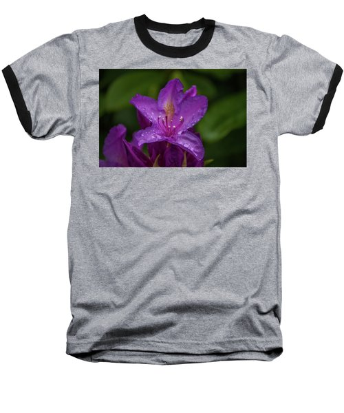 Purple Flower 7 Baseball T-Shirt by Timothy Latta
