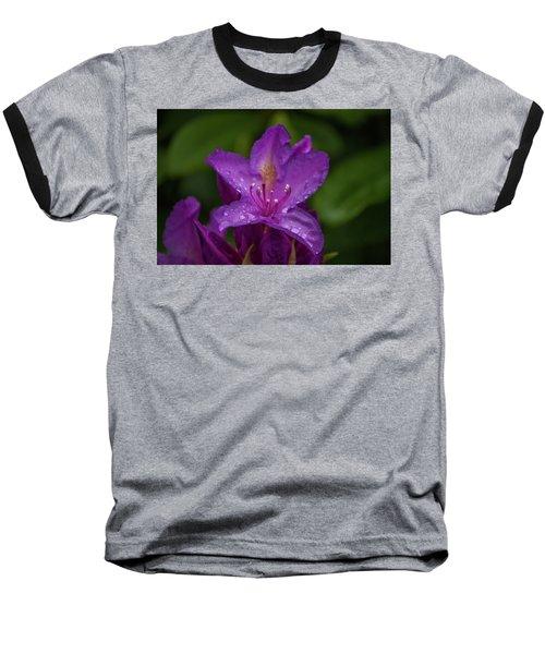 Purple Flower 7 Baseball T-Shirt