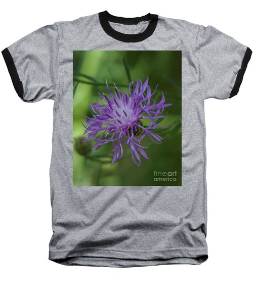 Purple Flower 8 Baseball T-Shirt