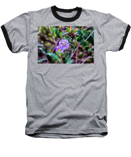 Purple Flower Family Baseball T-Shirt