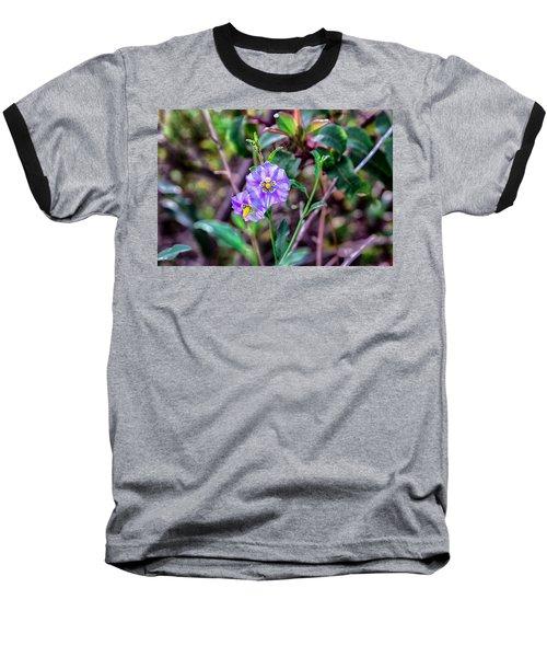 Purple Flower Family Baseball T-Shirt