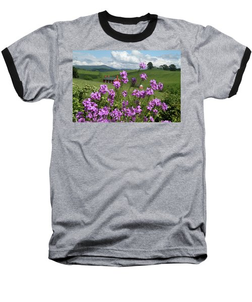 Baseball T-Shirt featuring the photograph Purple Flower In Landscape by Emanuel Tanjala