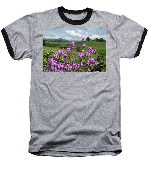 Purple Flower In Landscape Baseball T-Shirt