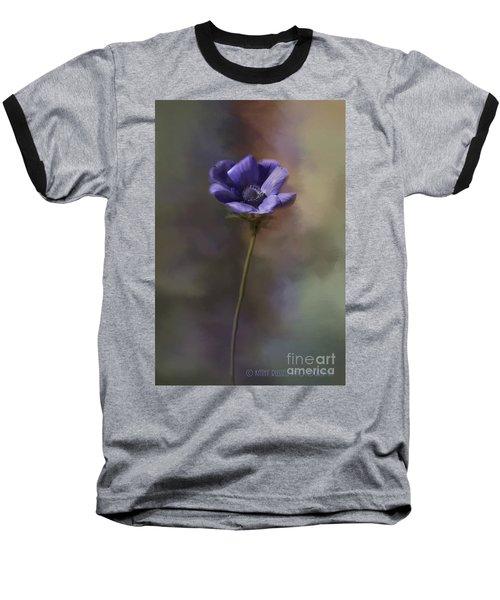 Purple Flower Baseball T-Shirt