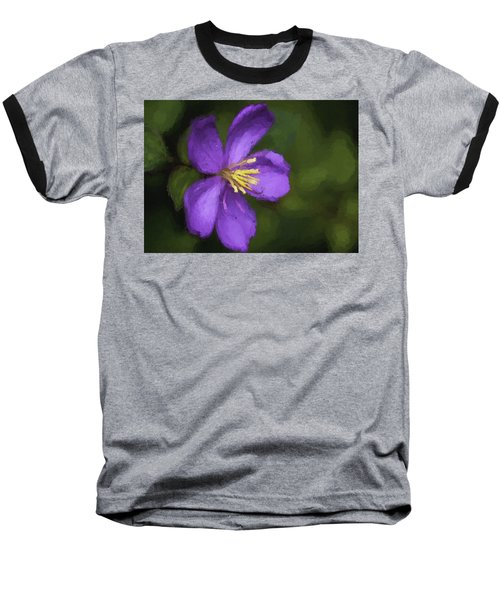 Baseball T-Shirt featuring the photograph Purple Flower Macro Impression by Dan McManus