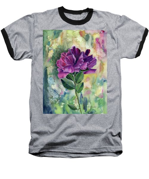 Purple Flower Baseball T-Shirt