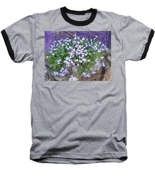 Purple Flower Textured Photo 1028b Baseball T-Shirt