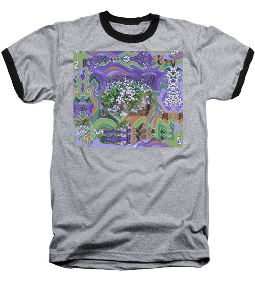 Purple Flower Textured Photo 1028d Baseball T-Shirt