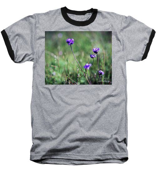Purple Flowers Baseball T-Shirt by Jim and Emily Bush