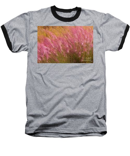 Purple Flowers Baseball T-Shirt