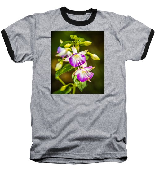 Purple Glow Baseball T-Shirt by Jerry Cahill