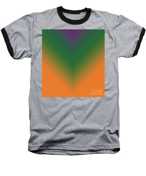 Purple, Green And Orange Baseball T-Shirt