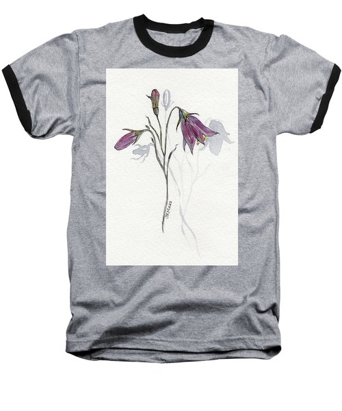 Purple Harebell Baseball T-Shirt