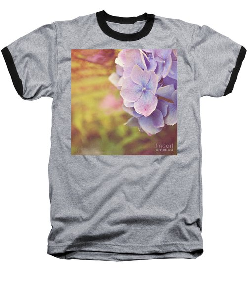 Baseball T-Shirt featuring the photograph Purple Hydrangea by Lyn Randle
