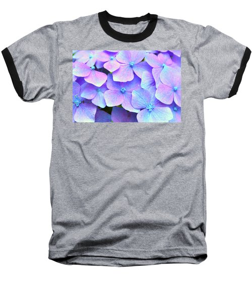 Purple Hydrangeas Baseball T-Shirt