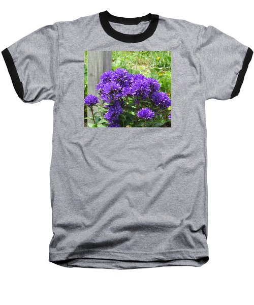 Baseball T-Shirt featuring the photograph Purple In The Forest by Jeanette Oberholtzer