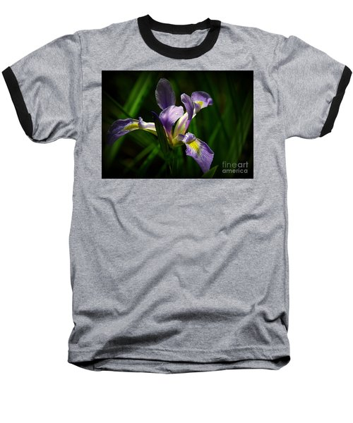 Purple Iris Baseball T-Shirt by Lisa L Silva