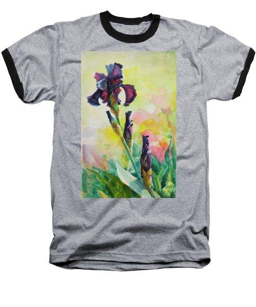 Purple Iris Baseball T-Shirt
