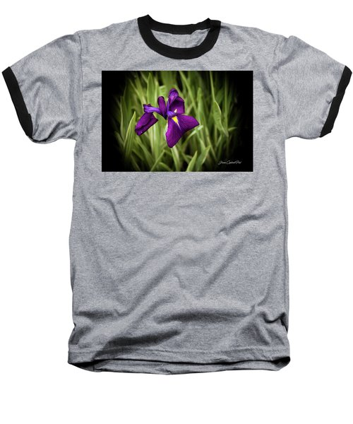 Baseball T-Shirt featuring the photograph Purple Japanese Iris by Joann Copeland-Paul