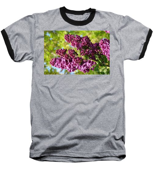 Purple Lilac 1 Baseball T-Shirt