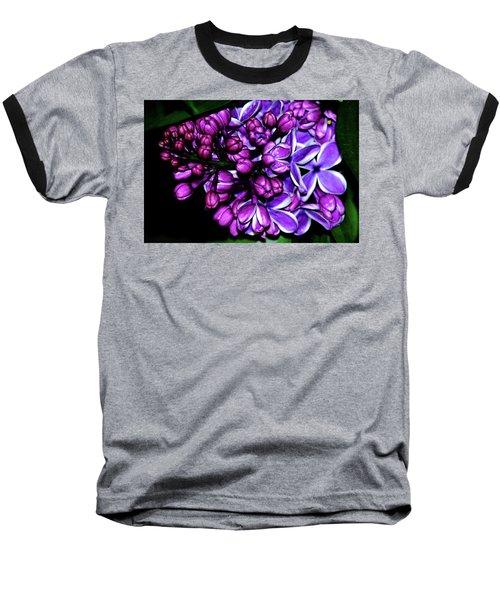 Purple Lilac Baseball T-Shirt