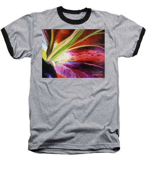 Purple Lily Baseball T-Shirt