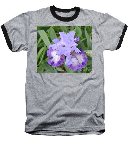 Purple Love Baseball T-Shirt by Marsha Heiken