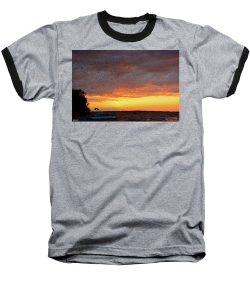 Purple Martin Sunset On Lake Murray Sc Baseball T-Shirt
