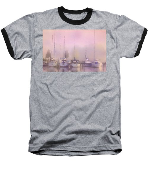 Purple Marina Morning Baseball T-Shirt