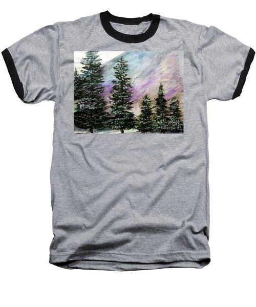 Purple Mountain Majesty Baseball T-Shirt by Scott D Van Osdol