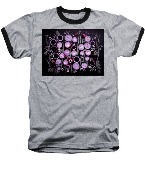 Purple Onion Patterns Baseball T-Shirt