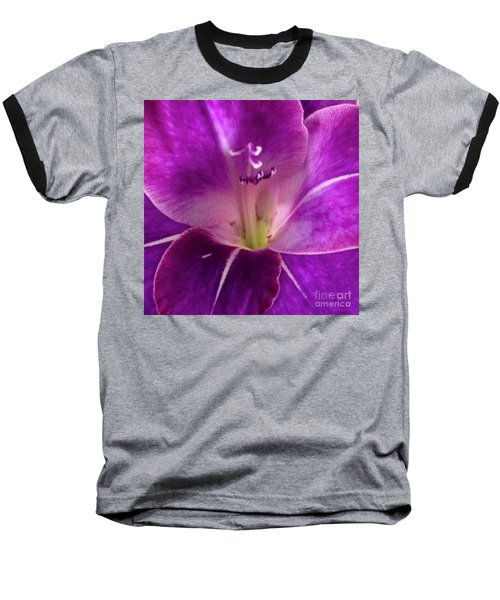 Baseball T-Shirt featuring the photograph Purple Orchid Close Up by Kim Nelson