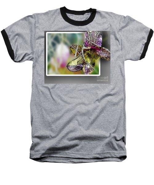 Purple Orchid Pop Baseball T-Shirt by Deborah Nakano