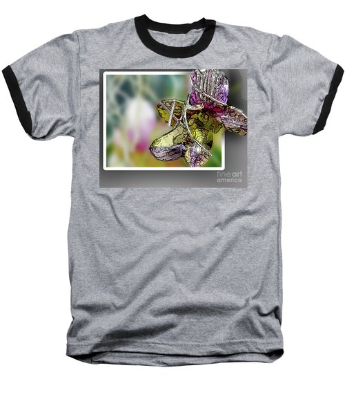 Purple Orchid Pop Baseball T-Shirt