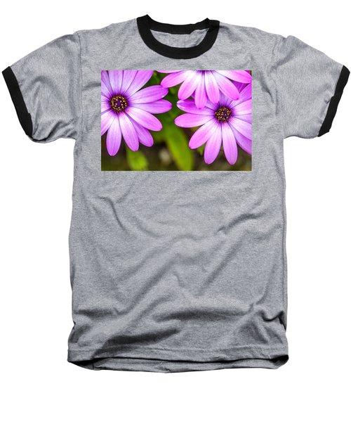 Purple Petals Baseball T-Shirt