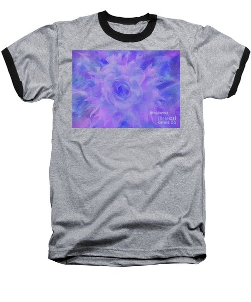 Purple Passion By Sherriofpalmspringsflower Art-digital Painting  Photography Enhancements Tradition Baseball T-Shirt by Sherri's Of Palm Springs