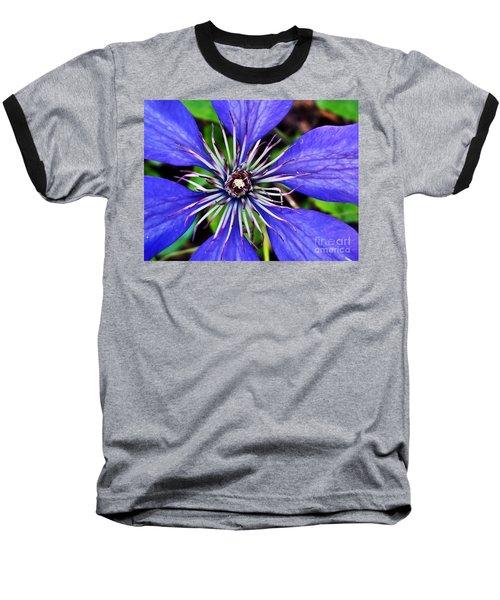 Purple Passion Baseball T-Shirt by Christy Ricafrente